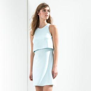 NWT Donna Morgan Crepe Sleeveless Pop-over Dress 6